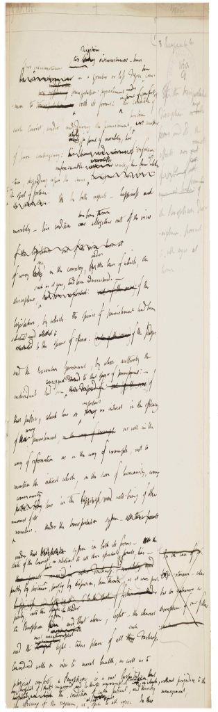 Box 116, folio 9 of UCL's Bentham Papers
